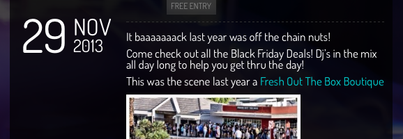 Black Friday Deals at Fresh Out The Box