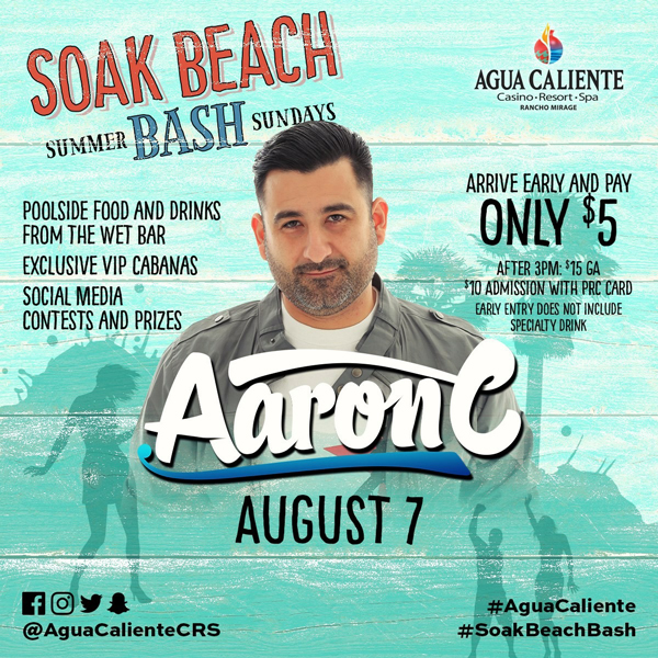 Soak Beach Bash with Aaron C