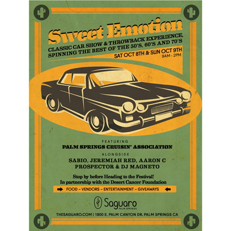 Sweet Emotion At Saguaro Palm Springs With Aaron C DJ Aaron C DJ - Palm springs classic car show