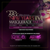 BB's 33rd Annual New Year's Eve Masquerade Party inside Hard Rock Hotel, Palm Springs