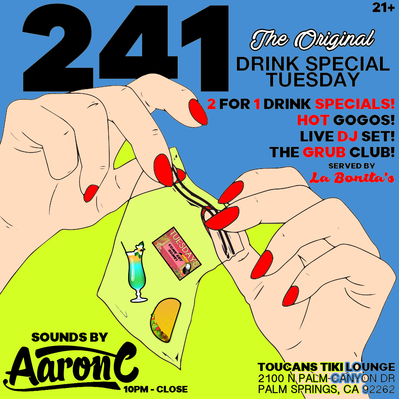 241 inside Toucan's Tiki Lounge with Aaron C